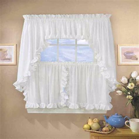 Cape Cod Kitchen Curtains Classic Cape Cod Ruffled Kitchen Tier Curtain Ellis Curtain Curtainshop