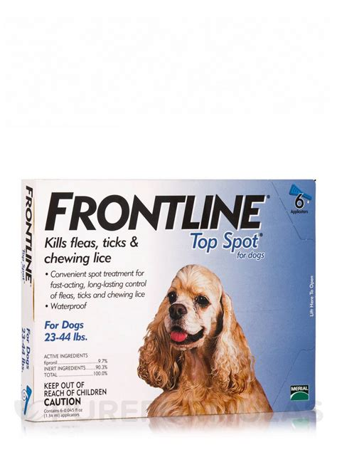 spot for dogs frontline 174 top spot 174 for dogs 23 44 lbs 6 applicators