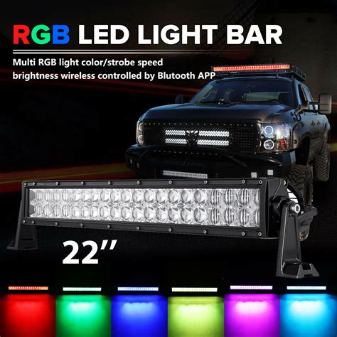 multi color led light bar 24inch 280w cree rgb led light bar strobe flash multi
