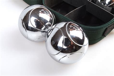 jaques polished alloy 8 boule bocce ball set petanque deluxe boules bocce 8 alloy ball set
