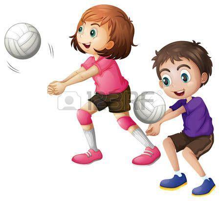 dibujos niños jugando voleibol 17 images about voleibol femenino on pinterest verano
