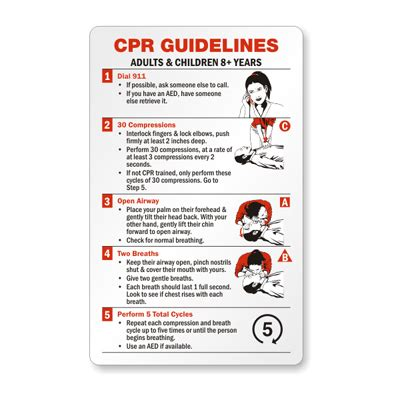pocket reference card template cpr certification wallet card adults children 8 years