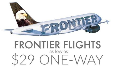 cheap frontier airlines flights deals 29 one way