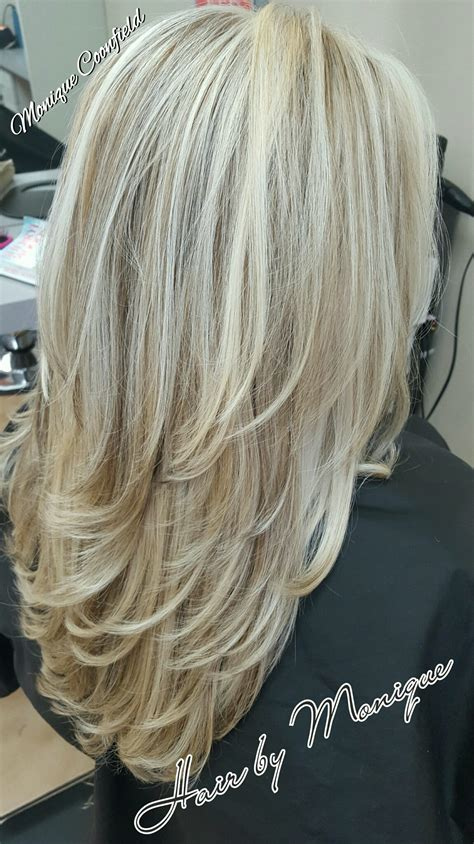 med hair woth gray n blonde blonde highlights and lowlights http