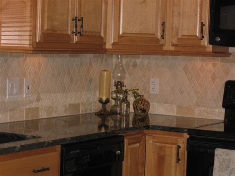 travertine backsplash traditional kitchen