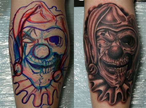 scary clown tattoos 20 awesomely creepy horror designs