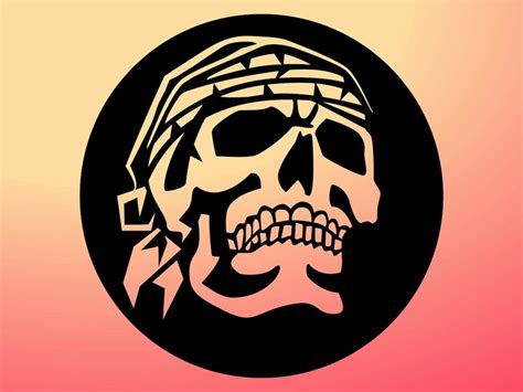 pirate skull graphic vector art amp graphics freevector com