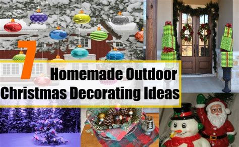 homemade outdoor christmas decorating ideas ideas for