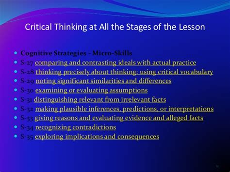 critical thinking skills practical strategies for better decision problem solving and goal setting books critical thinking is the practice of evaluating