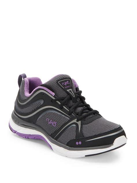 black walking sneakers lyst ryka shift walking sneakers in black