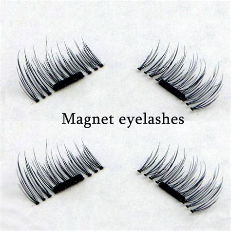 Best Natural Hair Products by 4 Pcs Pairs Magnetic False Eyelashes Extension Eye Beauty