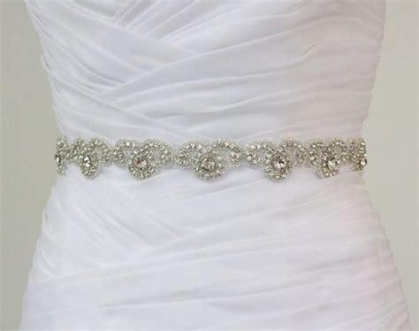 beaded sash for wedding dress ready to ship rhinestone bridal belt wedding