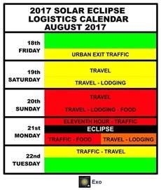 Solar Eclipse Calendar 2017 Solar Eclipse Logistics Calendar Exo 2017 Solar