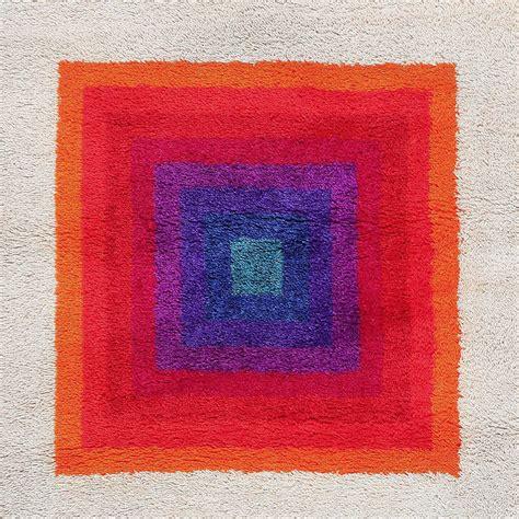 verner panton rug vintage scandinavian verner panton rya rug at 1stdibs
