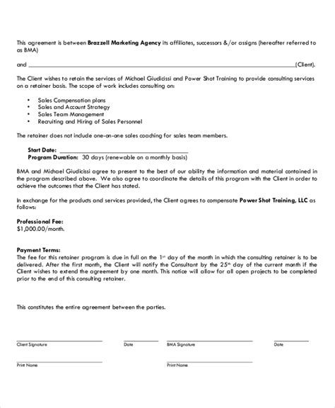 13 Marketing Consulting Agreement Sles Sle Templates Marketing Consultant Contract Template