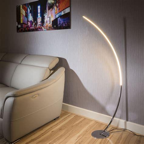 beautiful modern polished chrome led curved floor l