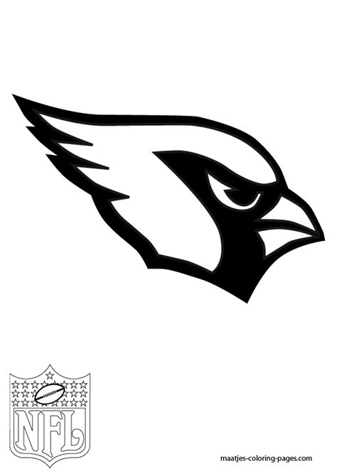 nfl cardinals coloring pages arizona cardinals coloring pages