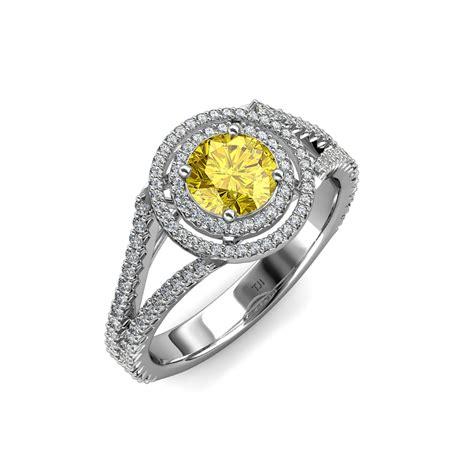 yellow sapphire halo engagement ring 1 37