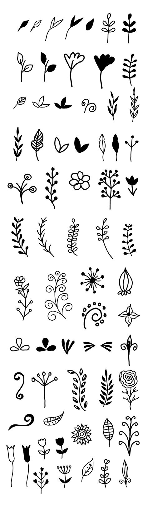 hand draw design elements vector 65 hand drawn vector decorative floral elements graphicsfuel