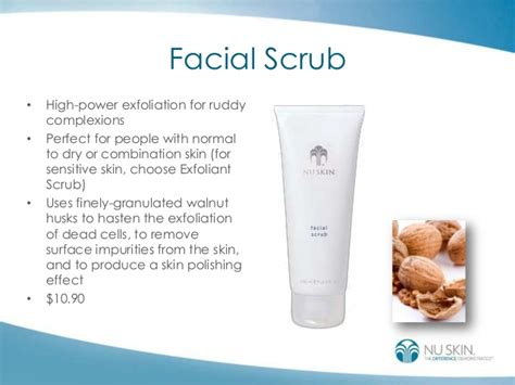 Scrub Nu Skin customized nu skin solutions