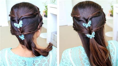 haircut for long hair step by step how to do fancy rope braid half updo hairstyle for medium