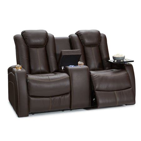 seatcraft omega leather gel home theater seating power