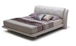 Modern Platform Bed Italain Leather Modern Platform Bed Los Angeles California Bhposh