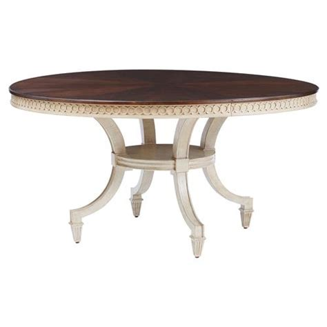 Walnut Pedestal Dining Table Walnut Ivory Pedestal Dining Table Kathy Kuo Home