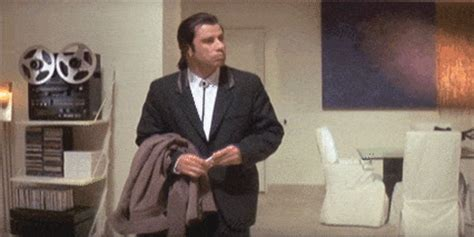 Pulp Fiction Meme - travolta gifs find share on giphy