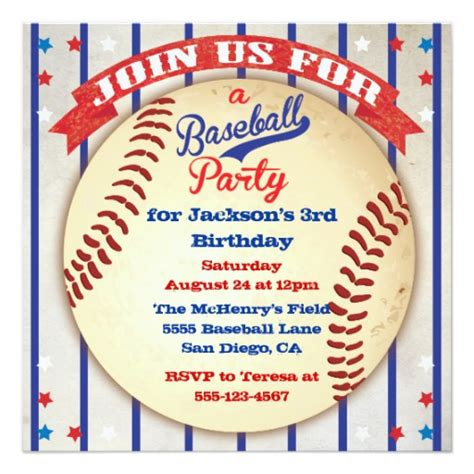 baseball invitation template baseball photo birthday invitation zazzle