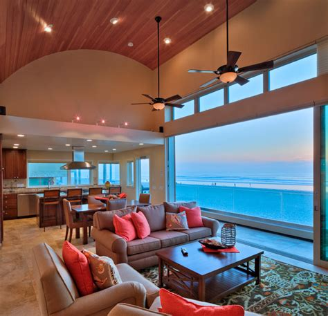 transitional beach house beach style living room san mission beach house beach style living room san