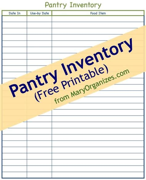 Kitchen Pantry Inventory List by 17 Best Ideas About Pantry Inventory Printable On