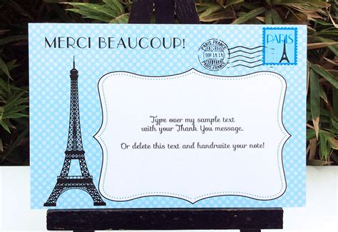 Blue Paris Baby Shower Printables Invitations Decorations Blank Theme Template