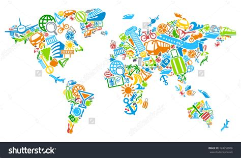 map clipart world traveler pencil and in color map