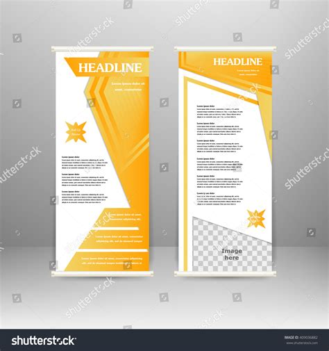 roll up banner stand design for advertisement poster
