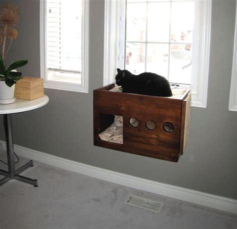 Diy Cat Furniture by Diy Box Cat Perch Petdiys