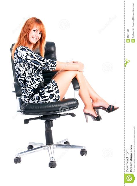 girls armchair sweet charming young girl on armchair royalty free stock