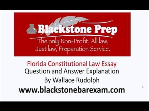 Florida Bar Essays July 2015 by Florida Bar Constitutional Essay