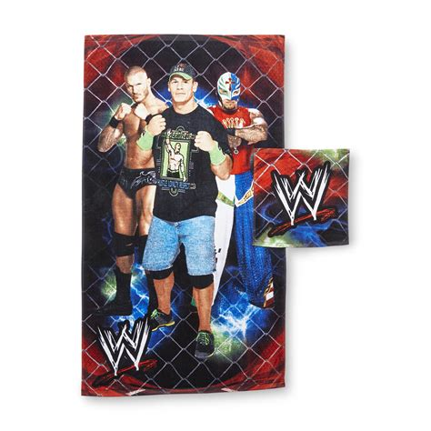 wwe bathroom decor terry cloth washcloth towel kmart com