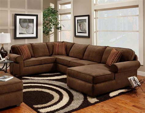 Comfy Sectional Sofa Brown Comfy Decosee