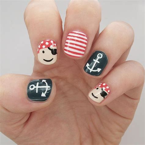 Pirate Nail Designs 45 most beautiful pirate nail designs for trendy