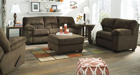 chocolate living room set dailey chocolate living room set from ashley 9540338