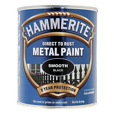 what of paint to use on exterior metal door hammerite metal paint smooth black 750ml wickes co uk