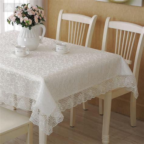Tablecloth For Coffee Table Thai White Embroidered Lace Pattern Embroidered Cloth European Style Coffee Table Cloth