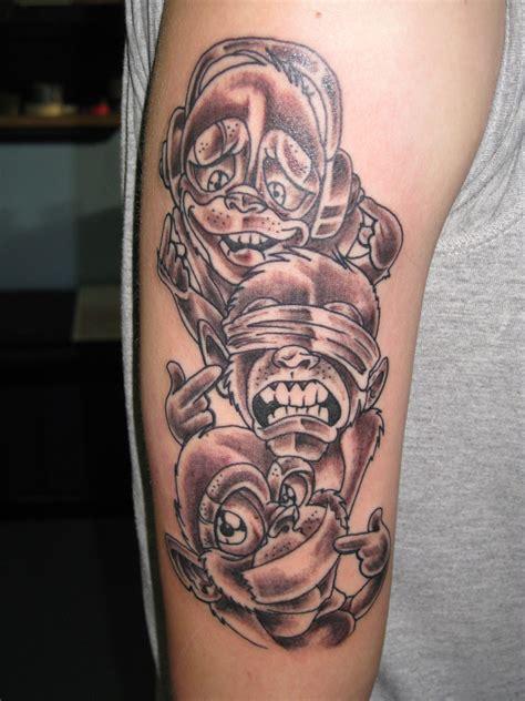 evil monkey tattoo designs evil st