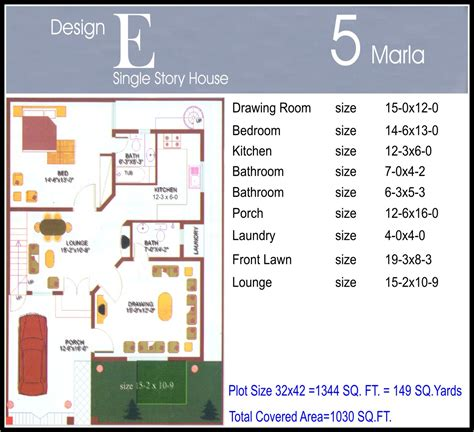 house map design 5 marla house map design