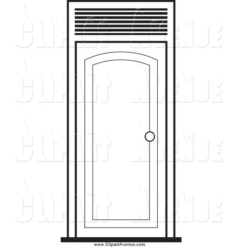 printable door images open door clipart coloring page pencil and in color open