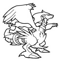 Reshiram Colouring Pages sketch template
