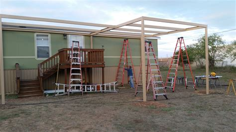 mobile home carport awnings front and back awning with carport attached to mobile home carport patio covers