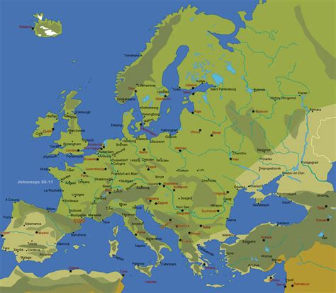 world map europe cities map of europe with major cities